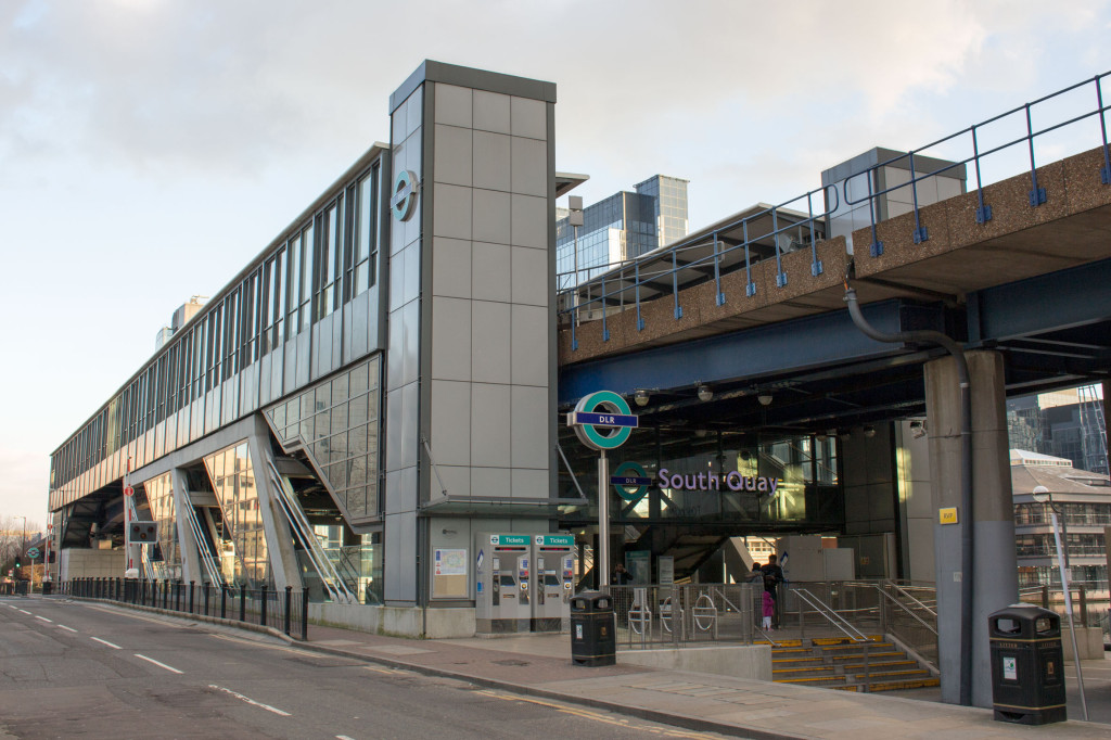 South Quay DLR station - not actually on the guide I tried.